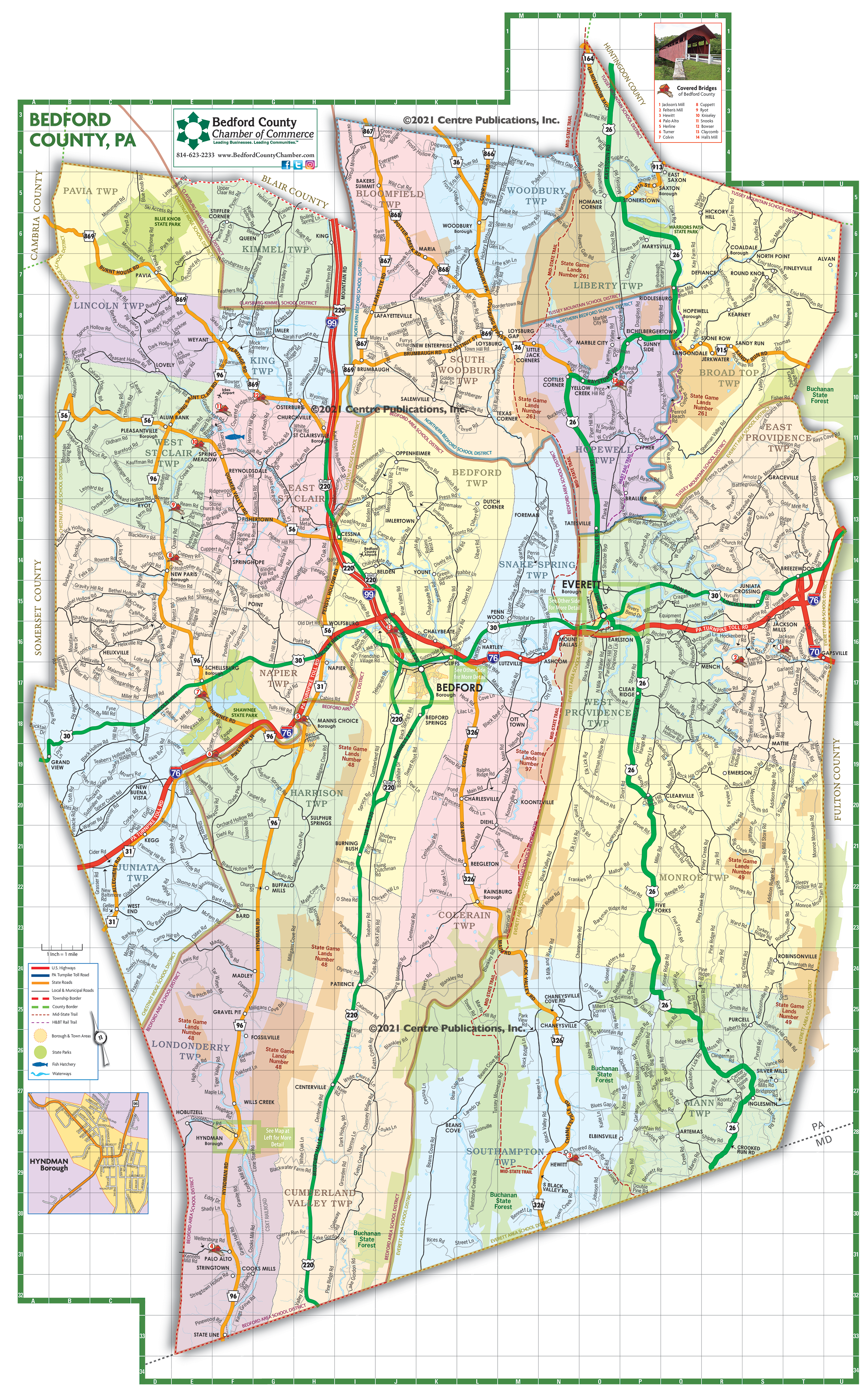 2021 Bedford County Map