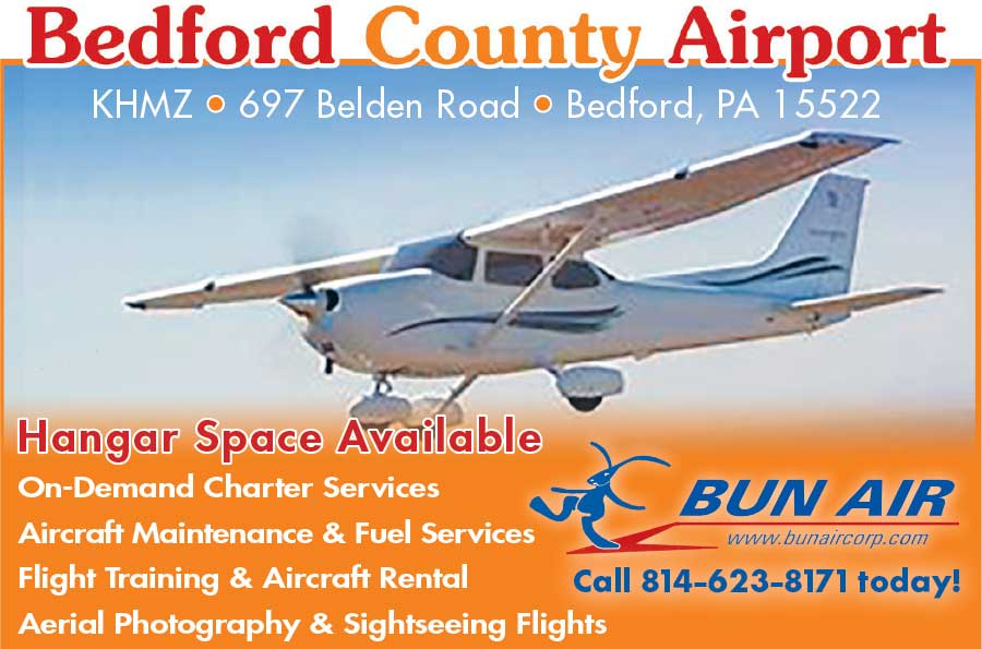 """<center>Bedford County Airport   <b><a href=""""https://www.airnav.com/airport/KHMZ"""" target=""""_blank"""" rel=""""noopener noreferrer"""">CLICK HERE to view the website</a></b></center>"""
