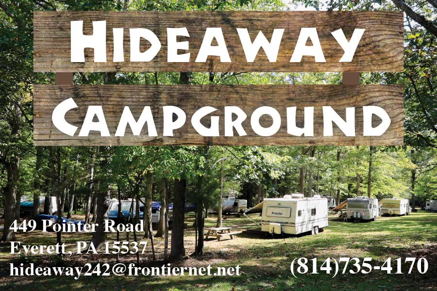 """<center>Hideaway Campground   <b><a href=""""tel:814-735-4170"""">CLICK TO CALL 814-735-4170</a></b></center>"""