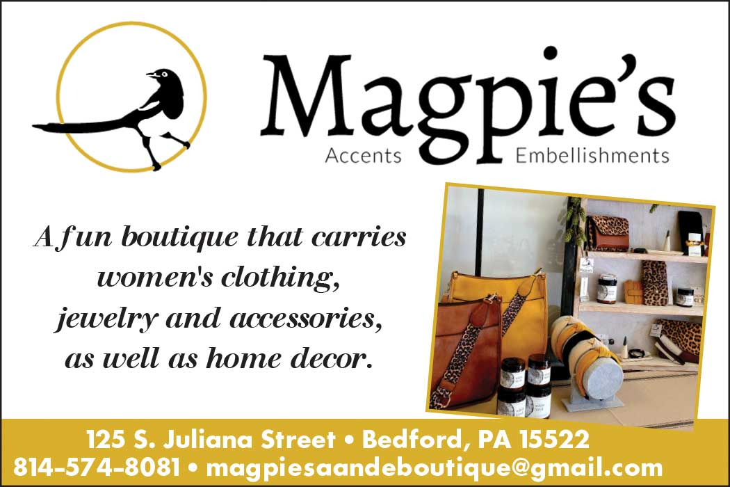"""<center>Magpie's Boutique   <b><a href=""""https://www.facebook.com/shopmagpiesboutique/"""" target=""""_blank"""" rel=""""noopener noreferrer"""">CLICK HERE to view the website</a></b></center>"""